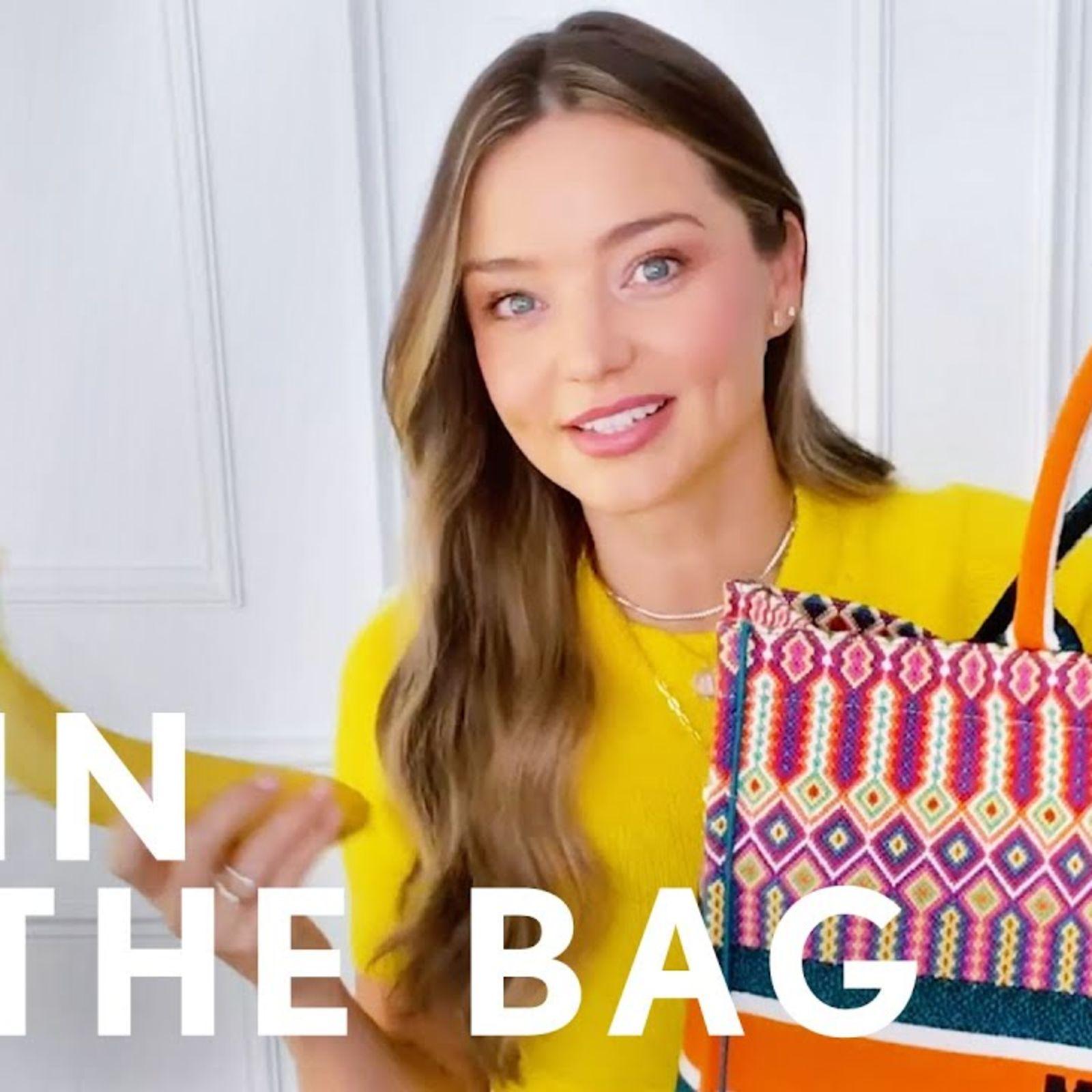 Watch Miranda Kerr Break Down Exactly What's In Her Dior Bag