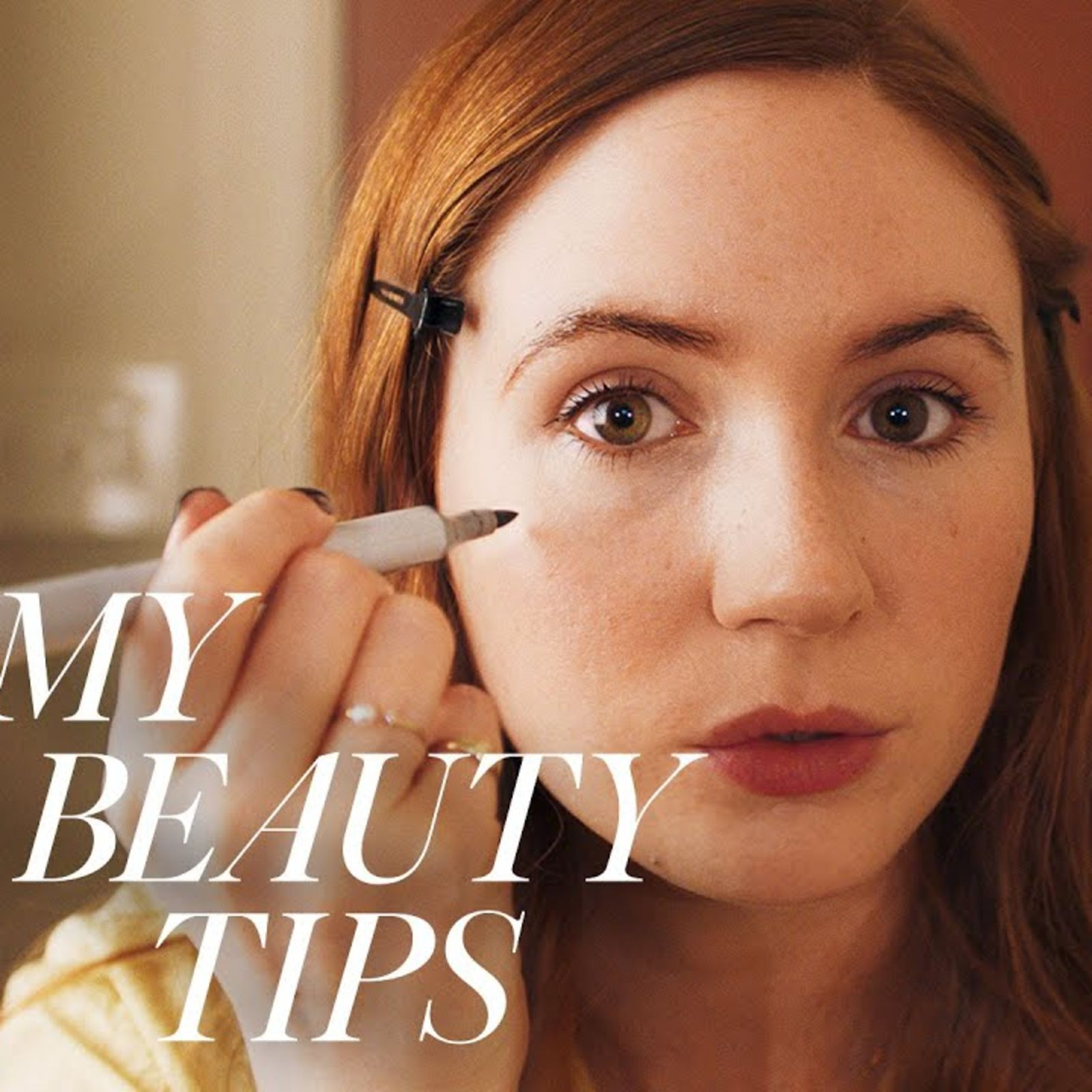 Watch Karen Gillan – And Her Freckle Pen – Deliver A Fresh New-Year Look