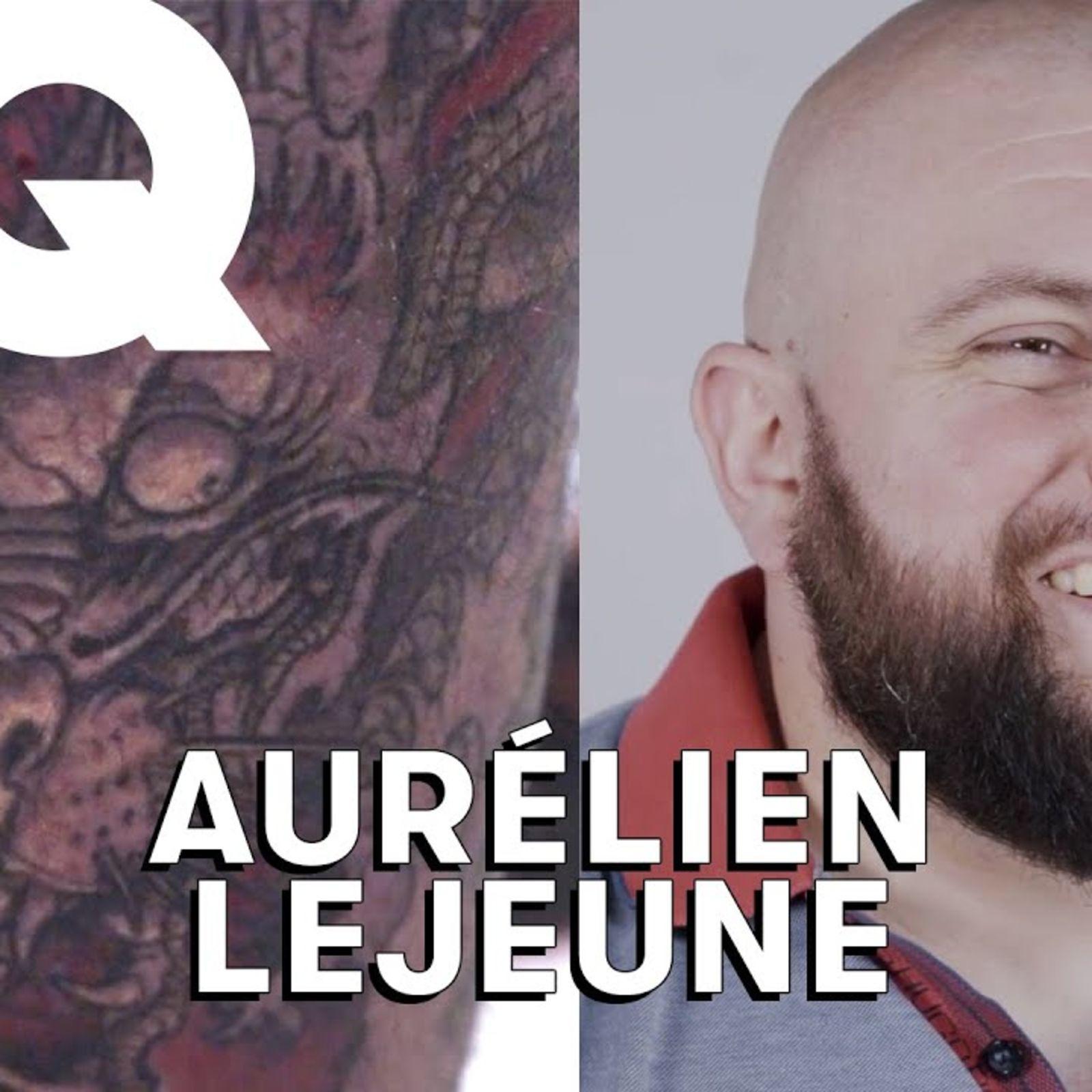 Aurélien Lejeune, l'homme le plus fort de France dévoile ses tattoos : Vikings, dragon…