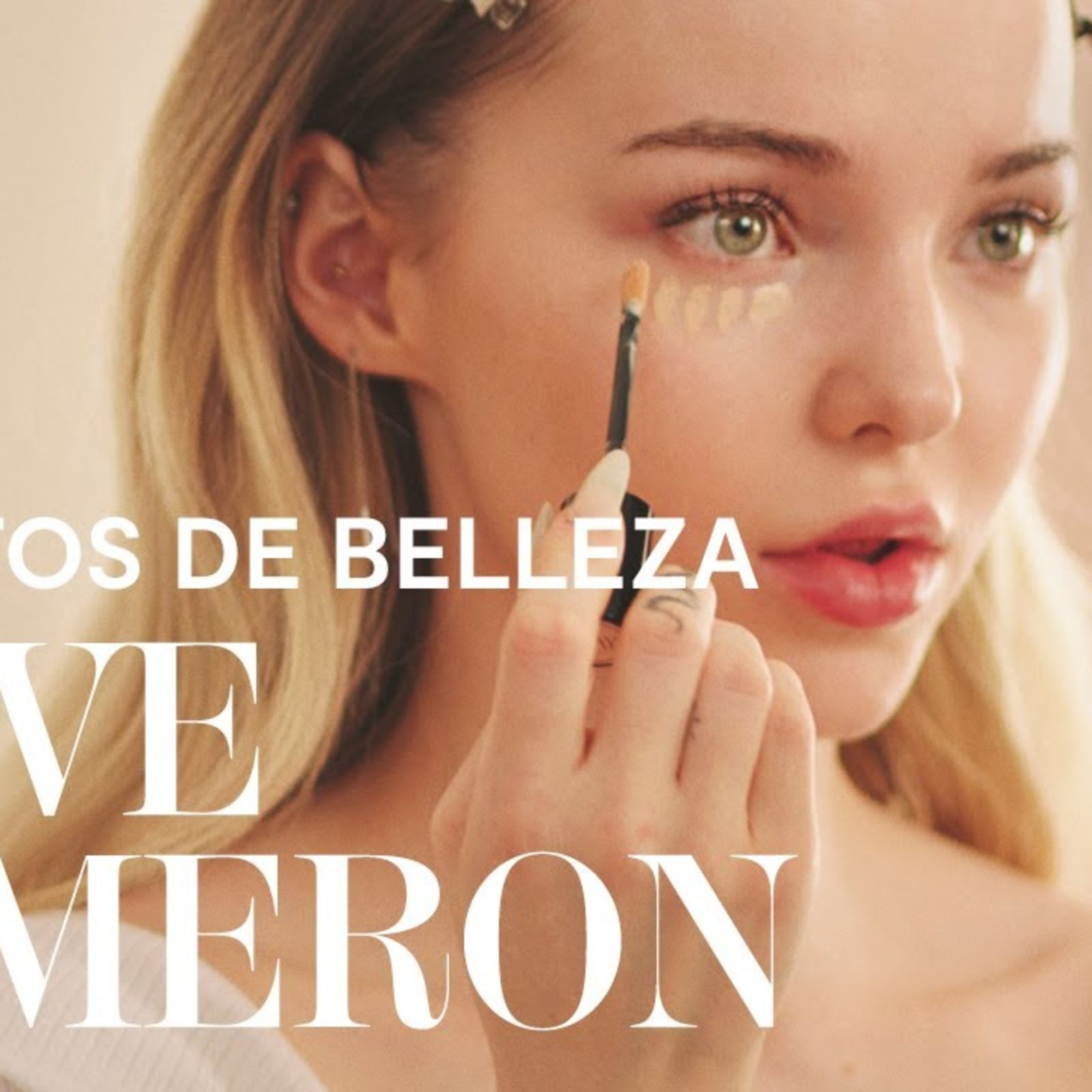 El maquillaje romántico de Dove Cameron para todo el día | Secretos de belleza