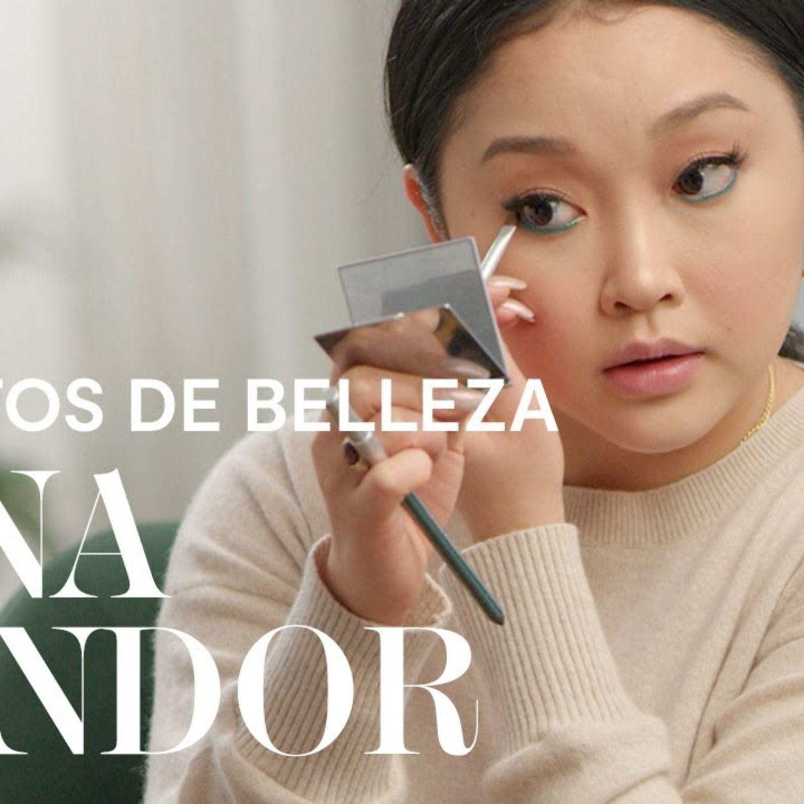 El truco de Lana Condor para un delineado verde atrevido | Secretos de Belleza