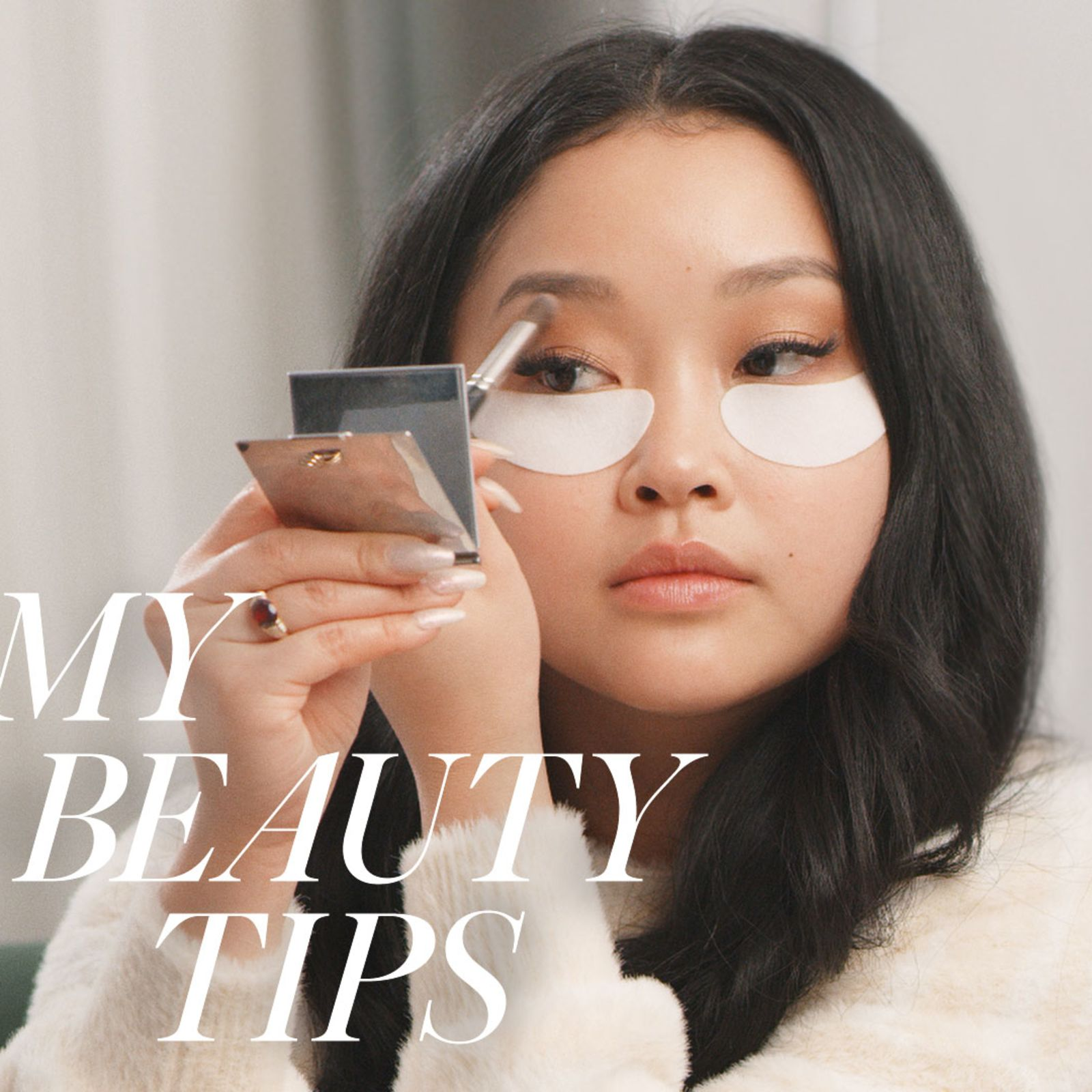 Lana Condor says a bold lip and showstopping eyes can go together — here's how…