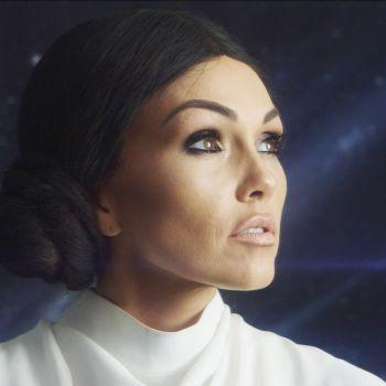 Kim Kardashian as Princess Leia Halloween Makeup Tutorial