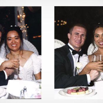 Newlyweds Recreate Their Parents' Wedding Photos