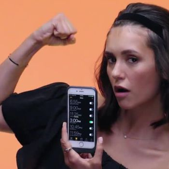 Nina Dobrev Shows Us the Last Thing on Her Phone