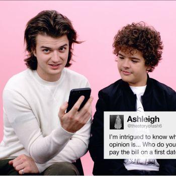 Stranger Things' Gaten Matarazzo and Joe Keery Give Advice to Strangers on the Internet