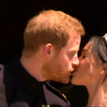 Prince Harry and Meghan Markle's First Kiss As Husband and Wife