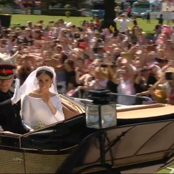 Meghan and Harry's Carriage Ride Through Windsor