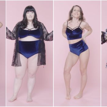 Women Sizes 0 Through 26 Try on the Same Lingerie