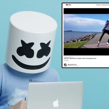 DJ Marshmello Watches Fan Covers On YouTube