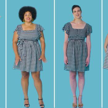 Women Sizes 0 Through 26 Try On the Same Short Dress