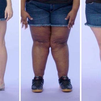 Women Sizes 0 Through 26 on Showing Their Legs