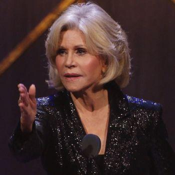Jane Fonda Accepts Award on Greta Thunberg's Behalf