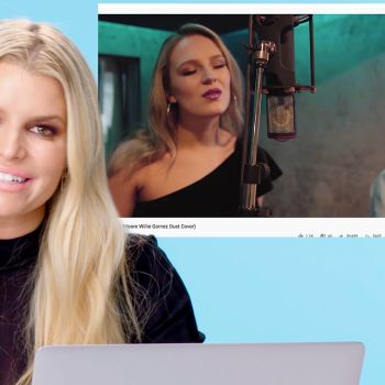Jessica Simpson Watches Fan Covers On YouTube