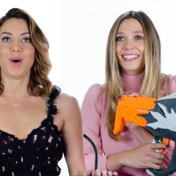 Aubrey Plaza and Elizabeth Olsen Review Kids' Toys