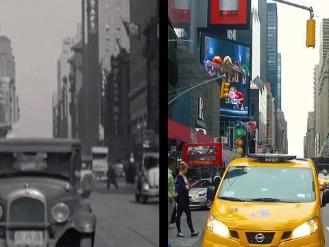 Eighty Years of New York City, Then and Now