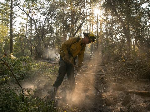The Firefighters Battling the Northern California Wildfires