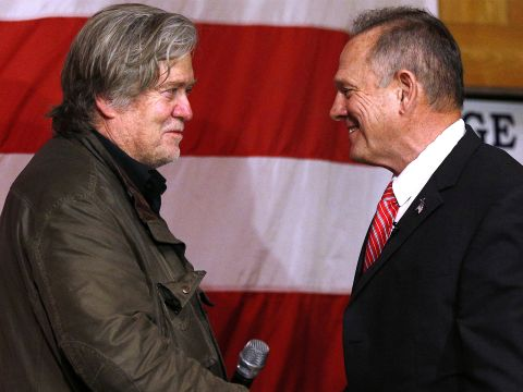 Steve Bannon Rallies Behind Roy Moore in Alabama