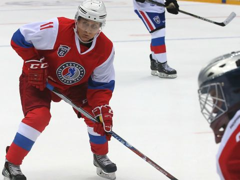Playing Hockey Against Putin