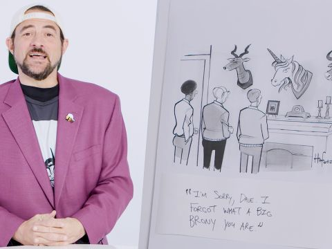 How to Write a New Yorker Cartoon Caption: Kevin Smith Edition