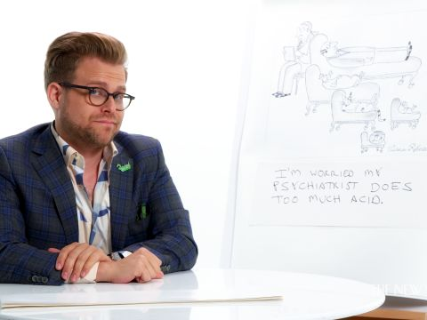 How to Write a New Yorker Cartoon Caption: Adam Conover Edition