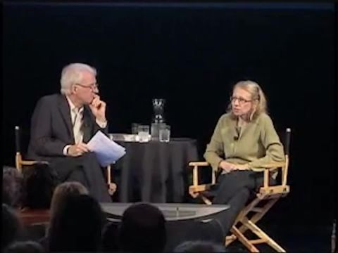 Roz Chast and Steve Martin at the New Yorker Festival
