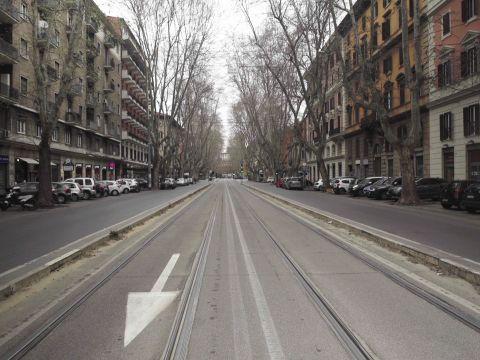 The Streets of Rome Under Quarantine