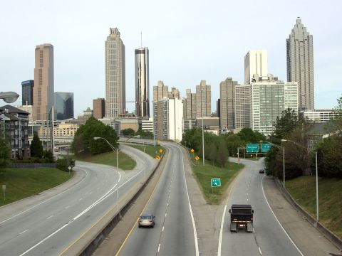 The Streets of Atlanta Under Quarantine