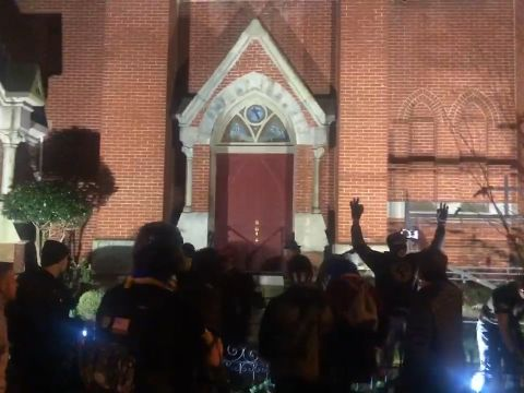 December 12th, just after 11 P.M., outside the Metropolitan African Methodist Episcopal Church.