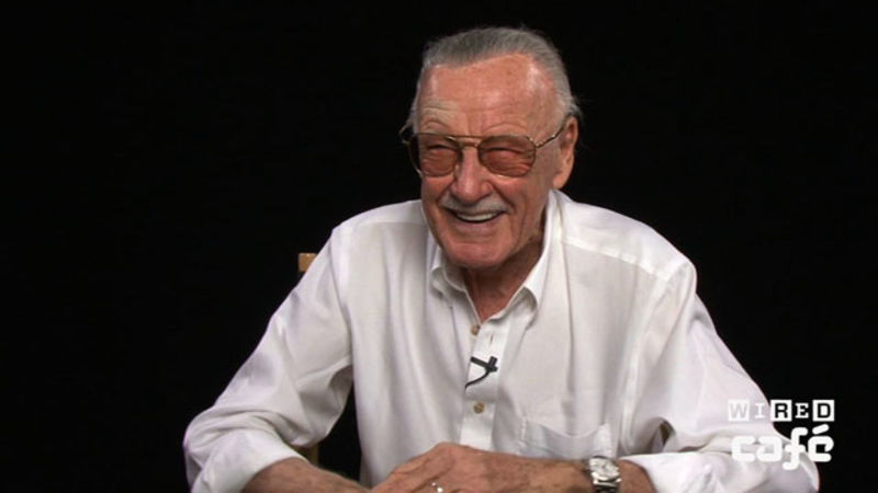 Stan Lee Stops By The Wired Cafe