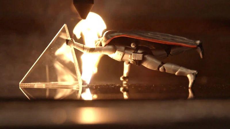 Stormtrooper Figures vs. Actual Lasers!