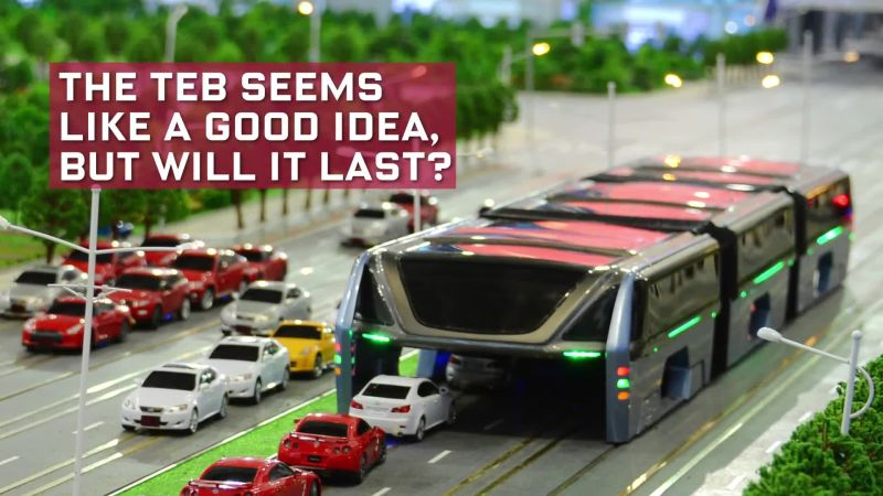 Everything You Need to Know About China's Traffic Straddling Bus