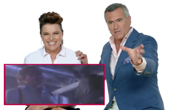 Ash vs Evil Dead Stars Bruce Campbell & Lucy Lawless React to Horror Films