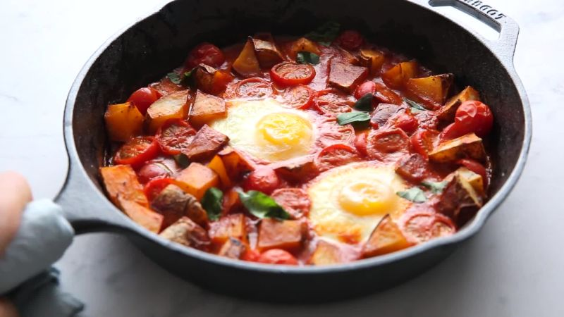 These Easy Baked Eggs Are The Ultimate Breakfast For Dinner