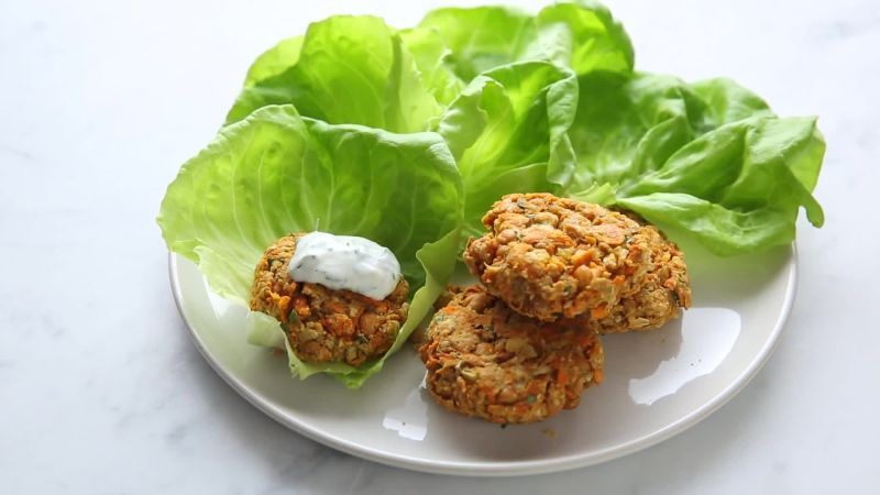How to Make Healthy and High-Protein Sweet Potato Falafels