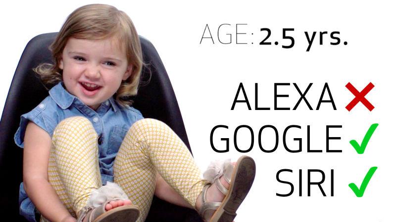 8 Children Test Their Speech on Siri, Echo and Google Home
