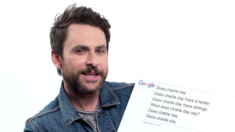 Charlie Day Answers the Web's Most Searched Questions