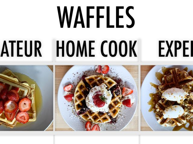 4 Levels of Waffles: Amateur to Food Scientist