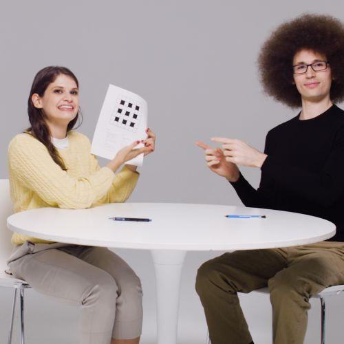 "Screen Capture of video ""Virtual Togetherness Through Partner Crosswords"""