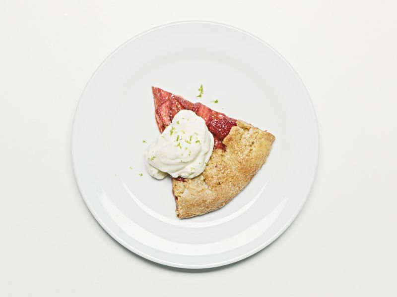 Free-form Strawberry Lime Tart with Graham Crust