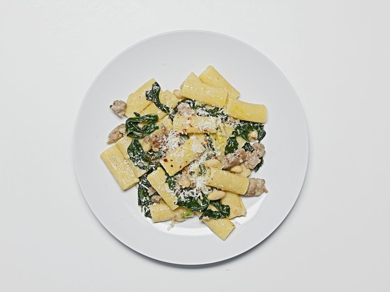 Beans and Greens Rigatoni
