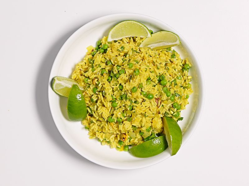 Perfect Rice Pilaf with Curry and Peas