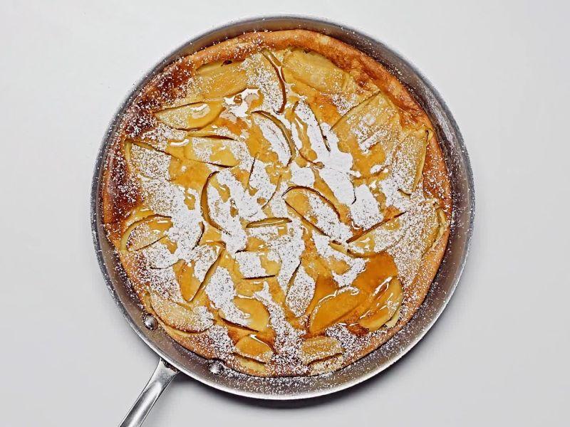 Baked Toffee Apple Custard