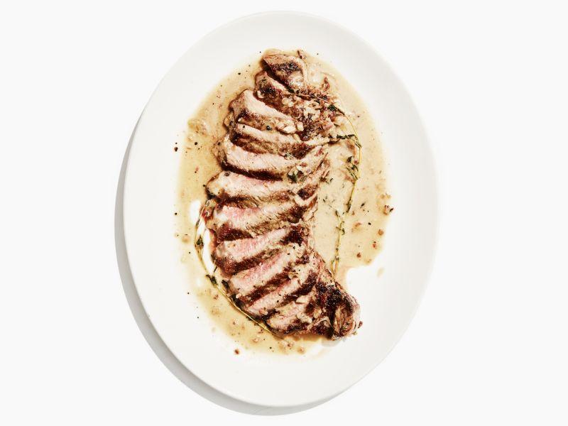 Seared Steak with Pan Sauce