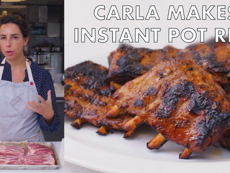 Carla Makes Instant Pot Ribs