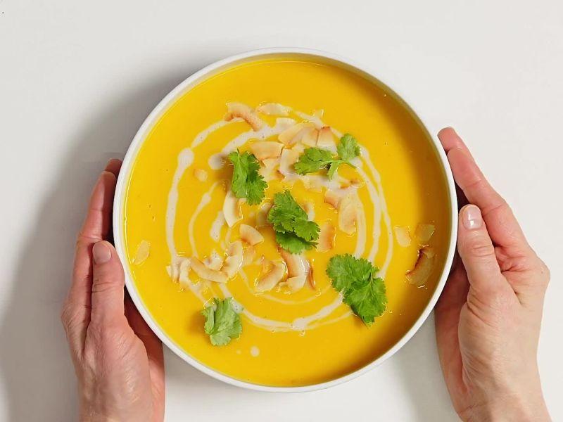 Vegan Butternut Squash and Coconut Soup