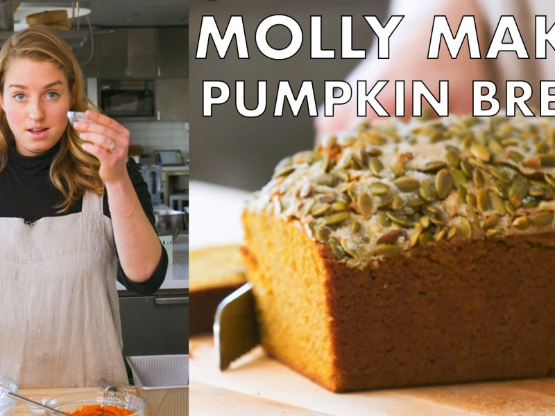 Molly Makes Pumpkin Bread with Maple Butter