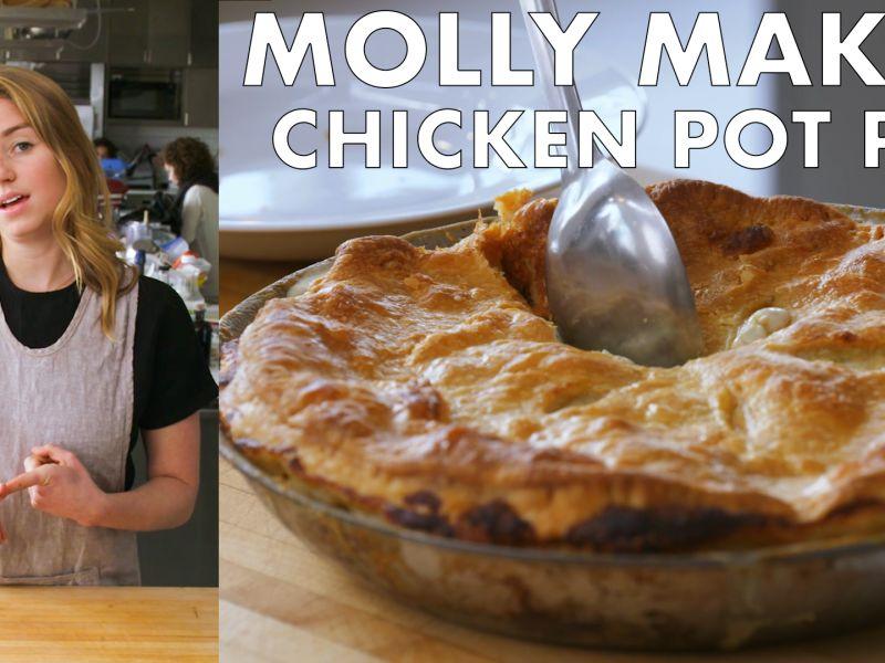 Molly Makes One-Skillet Rotisserie Chicken Pot Pie