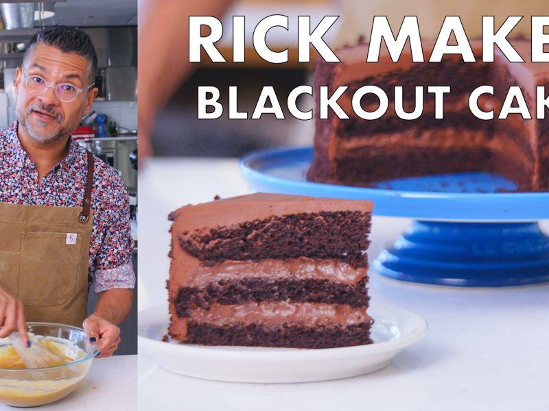 Rick Makes Chocolate Blackout Cake