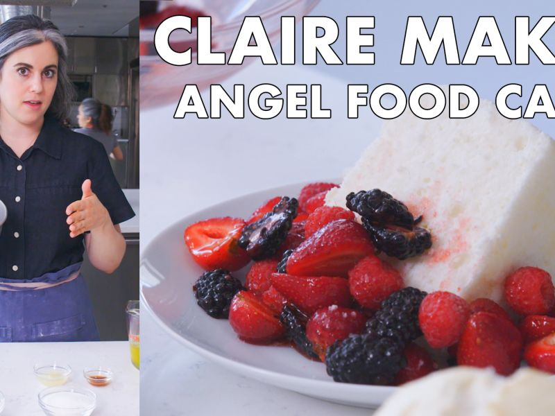 Claire Bakes Angel Food Cake